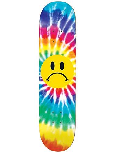 Enjoi Skateboard-Deck Frowney Face - 8.37 inch Tie Dye (One Size, Gelb) -
