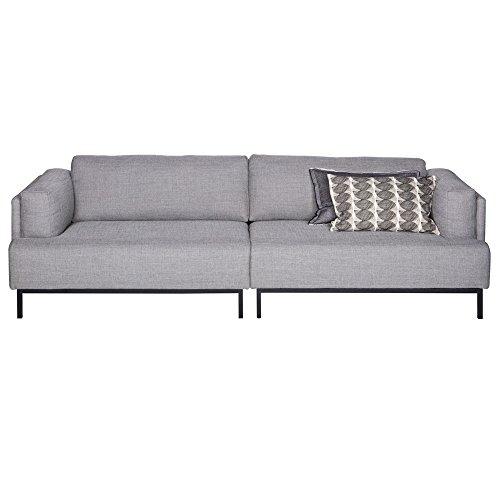 3 Sitzer Sofa UMA Stoff grau Lounge Couch Garnitur ...