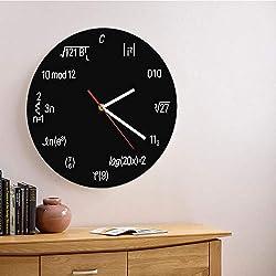 Vandelkt Reloj De Pared De Fórmula Matemática De 1 Pieza Reloj Icónico De Acrílico Personalizado Decoración para El Hogar Ecuación Friki Reloj Negro Nerdy Diseño Moderno