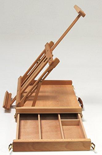 Professionelle Tischstaffelei aus Buchenholz FSC, für Keilrahmen bis 80cm, Qualität vom Fachhändler, Sitzstaffelei