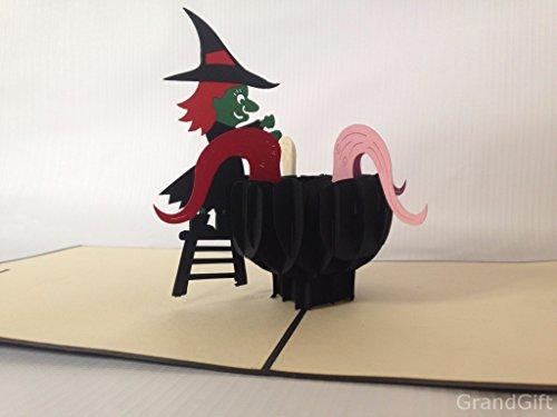 Hexe Brew 1. November 3D Pop up Karten Custom Grußkarten 3D Ostern Halloween Mutter Vater New Home NEW YEAR Thanksgiving Valentine Hochzeit Weihnachten
