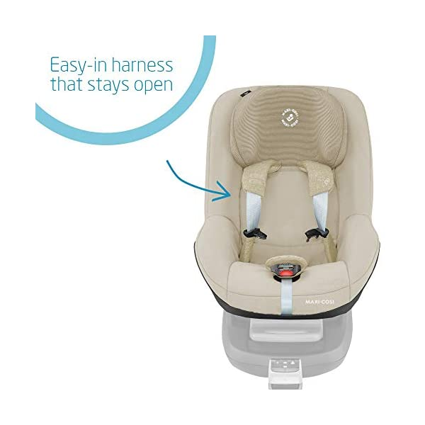 Maxi-Cosi Pearl Toddler Car Seat Group 1, ISOFIX Car Seat, Compact, , 9 Months - 4 Years, 9-18 kg, Nomad Sand Maxi-Cosi Suitable to use from 9 to 18 kg (approximate 9 months to 4 years old) Use with the Maxi-Cosi FamilyFix base, which confirms correct installation through interactive feedback Easy-in harness stays open to easily get the child in and out in seconds 3