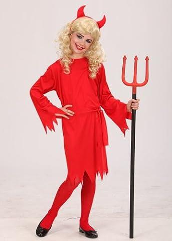 Kinder Halloween Red Devil Girl Kostüm Large (11-13 years) (Red Devil Kostüm Für Kinder)