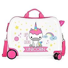Valise Enfant porteur, 2 roues multidirectionnelles Little Me Unicorn