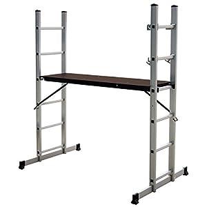 Charles Bentley Andamio de Escalera de Aluminio con Plataforma de Trabajo