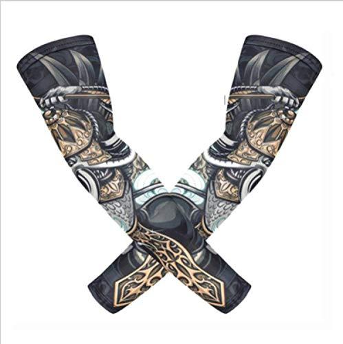 WZJam Sonnenschutzhülle Reiten Angeln EIS Seide Tattoo Armband Muster Handschuhe EIS Seide Hülle A2