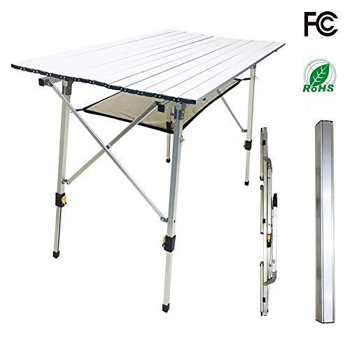RISILAYS Variety M Aluminium Falttisch für 4 Personen Höhenverstellbar (89x53cm)