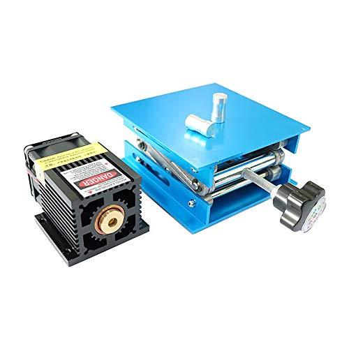 TOPQSC 2,5 Watt 5,5 Watt 7 Watt Laserkopf Blaulichtmodul Diode Für CNC DIY Gravur Schneidemaschine 450nm Fokus Power DC 12 V mit Schutzbrille & Konzentrierende Hebebühne (7W)