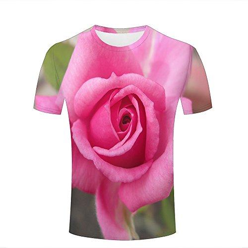 Mens 3D Printed T-Shirts Brilliant Brilliant Roses Graphics Couple Tees A