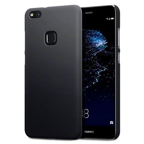 P10 Lite Case, Terrapin Gummiertes Hardskin Hülle für Huawei P10 Lite Hülle Schwarz