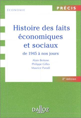 Histoire des faits économiques et sociaux de 1945 à nos jours