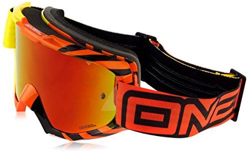 O'Neal B1 RL Goggle OKINAWA Gelb Orange Radium Moto Cross Enduro Motorrad Brille verspiegelt, 6023-802