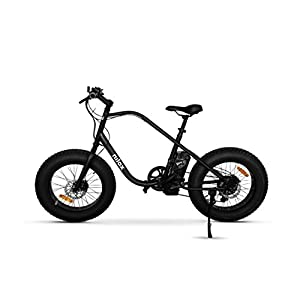 "41EBWaDsDML. SS300 Nilox E Bike X3, Fat Bike Elettrica A Pedalata Assistita, 20"", 36V/250W – Adulto, Nero, Taglia Unica"