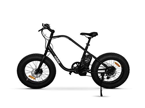 Nilox E Bike X3, Fat Bike Elettrica A Pedalata Assistita  – Adulto, Nero, Taglia Unica