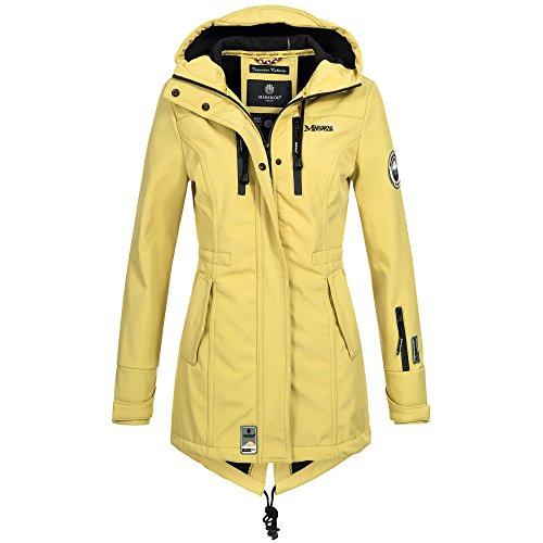 Marikoo ZIMTZICKE Damen Softshelljacke Winterjacke Regenjacke Outdoor XS-XXL 8Farben, Größe:XXL;Farbe:Gelb