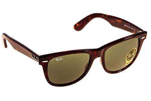 Ray-ban - wayfarer, occhiali da sole, unisex, brone tortoise 902 54, única