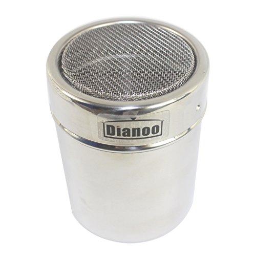 Dianoo Dredge Shaker, Rostfreier Stahl dredge Salz Pfeffer Shaker, Würze Büchsen, Zucker würzen Dredge Shaker, 1PCS (Würzen, Shaker)