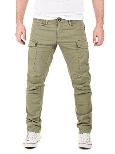 Yazubi Herren Rangerhose Chino Cargo Hose Jayden Cargohose Männer Arbeitshose Chinohose grüne Hosen Regular Fit, Grün (Dusty Olive 0515R), W34/L30