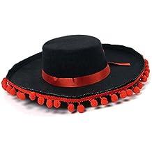 Sombrero Cordobés Borlas Rojas Fieltro 54490f2b41a