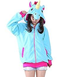 Misslight Unicornio Pijamas Animal Ropa de dormir Cosplay Disfraces Kigurumi Pijamas para Adulto Niños Juguetes y…