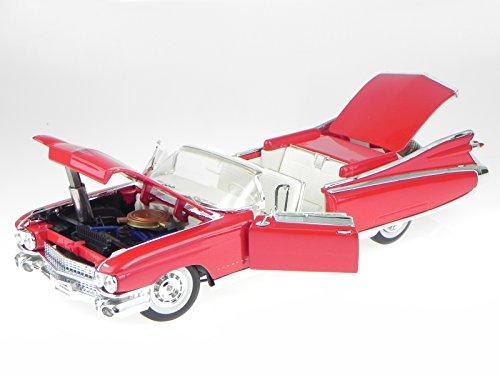 cadillac-eldorado-biarritz-1959-rot-modellauto-36813-maisto-118
