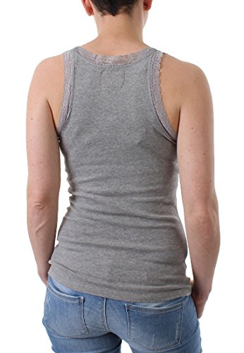 Superdry Damen Top Vintage Lace Vest Grau
