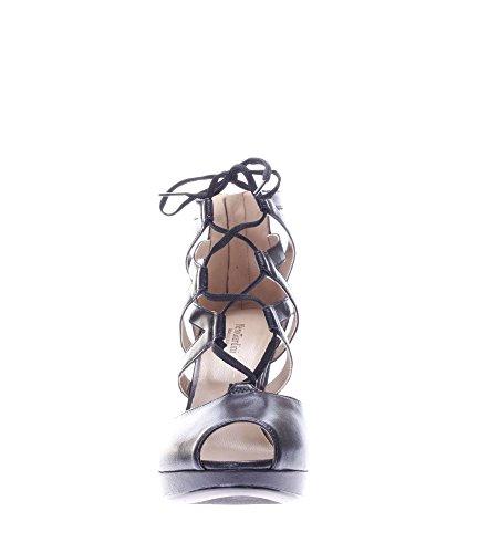 Nero Giardini Donna Sandali tacco P717402DE-100 Sandalo a gabbia con laccio Beige