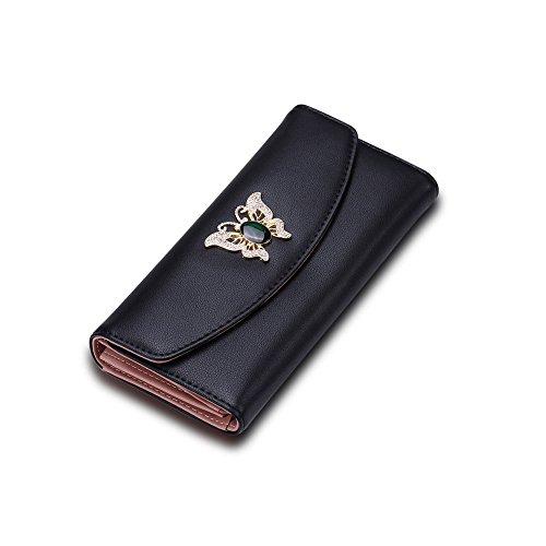 Fayting EU Portafoglio donna borsellino Matte PU pelle farfalle vari colori da scelto carte borsellino portafoglio da banchetto buon regalo