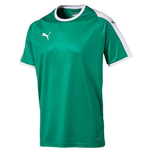 Puma Herren Liga Jersey T-Shirt, Pepper Green White, XXL (Liga Jersey Fußball)