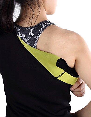 Kinikiss Damen Korsett Saunaweste Sweat Taille Trainer Hot Body Shaper Trainer Grün