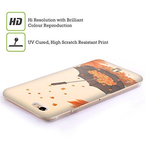 Head Case Designs Parapluie Automne Étui Coque en Gel molle pour Apple iPhone 6 / 6s Parapluie