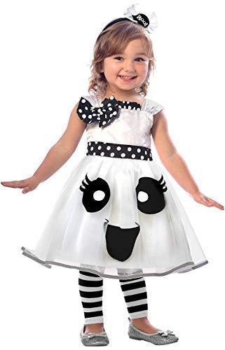 Fancy Me Mädchen Kleinkind Hübsch Weiß Ghost Tutu Kleid & Stirnband Halloween Kostüm Kleid Outfit 2-6 Jahre - 4-6 - Ghost Kostüm Für Kleinkind Mädchen
