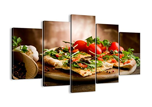 Canvas Print Picture - 5 Piece - Total size: Width 59,1(150cm), Height 39,4(100cm) Completely framed - Wall Art - Ready to Hang - multi panel - five 5 Part Panels - photo no. 2540 - EA150x100-2540 by multi panel FOOD DRINKS - Arttor