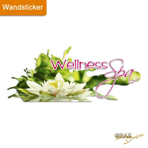 Graz Design Wandtattoo Deko für Bad Wellness Spa Flower Beach WC