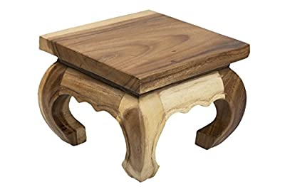 Opium Coffee Table 20x20x25cm from solid wood - low-cost UK light shop.