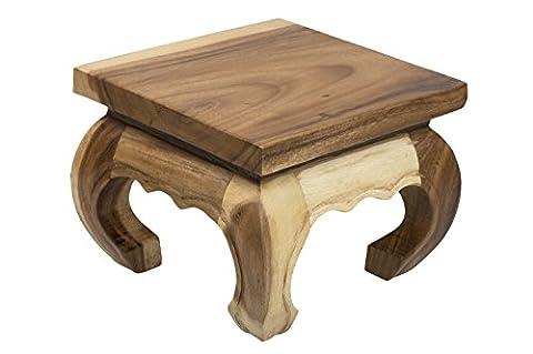Table Bois Massif - Table basse d'opium, 20x20x25 cm, artisanal, fait