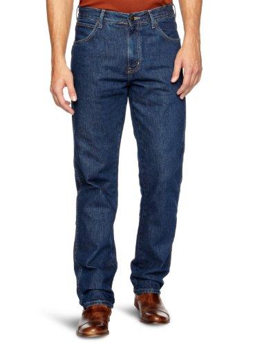 Wrangler Herren Straight Jeans Regular Fit Blau (Darkstone)