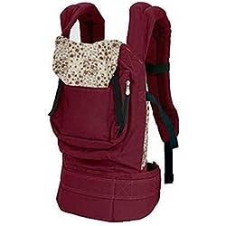 Portador para recién nacidos de Smartlly, portador seguro para poner delante o a la espalda, mochila cómoda para infantes con arnés de sujeción rojo rojo oscuro