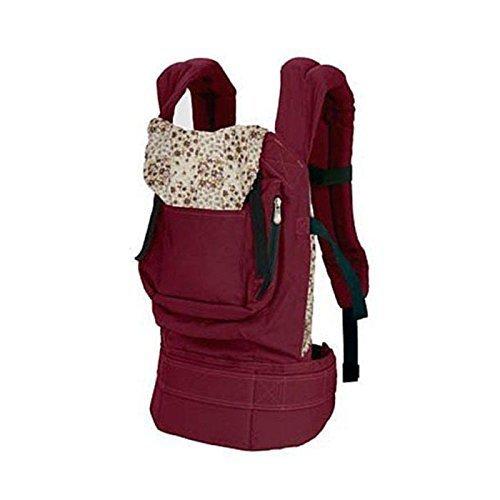 Rheshine Babytrage Babytragetasche Baby Fördermaschine Rucksack mit schützender Schlafkappe, Einstellbar Schnalle, Bauch und Hüfttrage Tragegurt für Babys und Kleinkinder von 3-36 Monaten (Weinrot)