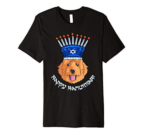 Doodle Menora Hut T-Shirt Chanukka Chanukah Shirt