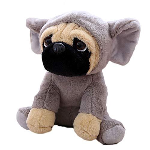(FONGFONG Weich Plüschtier Mops Hund mit Kostüm Kuscheltier 20 cm Gefüllte Puppe für Dekorieren Kinder Spielzeug Geschenke Elefant)