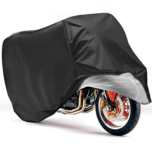MANYYSI Motorrad Regenmantel Motorrad-Abdeckungen Outdoor-Sonnenschutz Wasserdicht Anti Wind Staubdicht UV Regenschutz Feuchtigkeit Schnee mit Lage Löcher