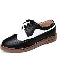 zapatos retro de primavera y otoño/Viento Brock señaló las mujeres zapatos de Inglaterra/escoge los zapatos/zapatos casuales/fondo plano