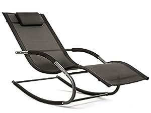 Luckup poltrona chaise lounge da esterno lettino a for Lettino a dondolo da giardino