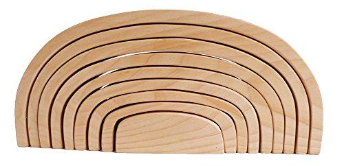Großes Kinder-Holzbogen-Set 9-teilig - Massiv Bauklötze-Holzbrücke 6060 | kreative Spielmöglichkeiten | massives Holz | handgefertigt, robust und stabil | viele Ergänzungsmöglichkeiten |
