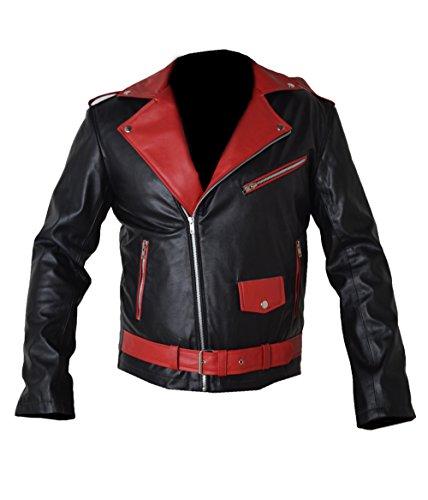 HLS Men's Akira Manga V2 Black & Red Faux Leather Jacket (CUSTOM SIZE)