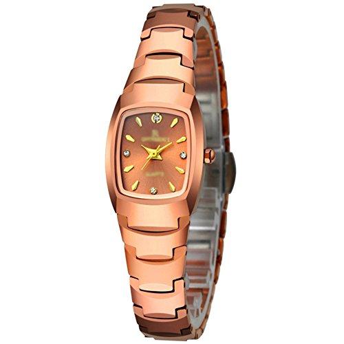 Damenuhr, Mode Wasserdicht Watch Quartz uhr, Kleid-armbanduhr Weiblichen uhren-E