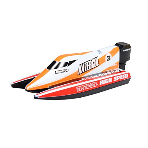 Likeluk Kinder Mini RC Speedboot Ferngesteuertes F1 High Speedboot Fernbedienung Spielzeug