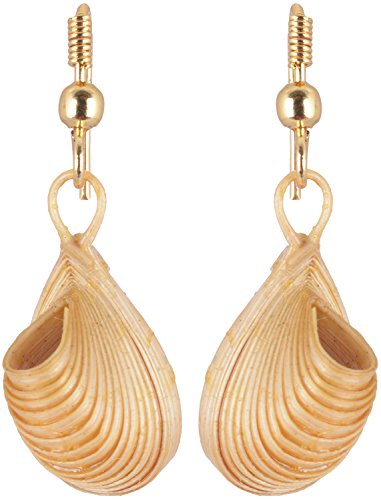 Anns Arts & Crafts Beige Bamboo Dangle & Drop Earrings for Women (AAC-11)