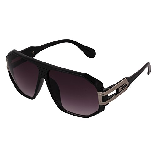 Pede Milan PM-172 Honey Singh Style Oversized Sunglasses for Men (BlackSilverMaroon)  available at amazon for Rs.279